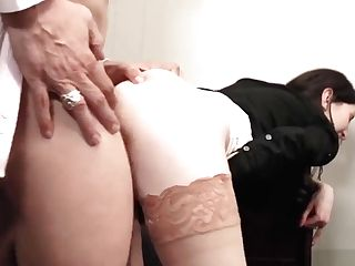 Cougar Gobbles Fat Woo And Gets Banged