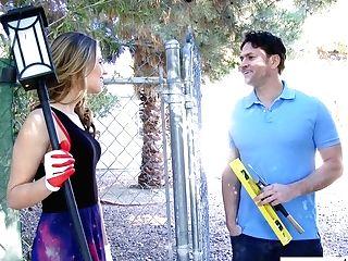 Long Legged Nextdoor Cougar Jillian Janson Takes Hard Pole In Her Yummy Punani