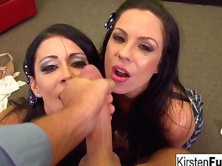 Dual Blow-job Joy With Kirsten Price And Jessica Jaymes