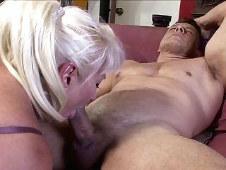 Blonde Dana Hayes Puts Her Soft Lips On Stud's Stiff Dick