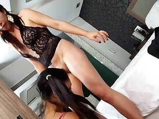 A Domina Queen Angel And Excellent Jizm -  Rimming With Mummy