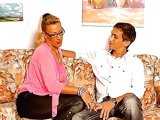 Lana Vegas Loves Wearing Leather Pants And She Loves To Fuck Youthful Studs