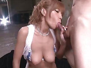 Big-titted Cougar Sumire Matsu Slammed In A Threesome - More At Japanesemamas.com