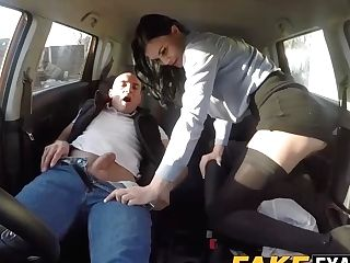Big Titted English Whore Fucked During Her Driving Class