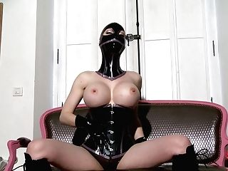 Spandex Lucy Is A Fixation Model She Wears Black Mask,