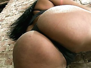 Hot Buxom Latina From France Anissa Kate Loves When Her Butt-hole Is Polished