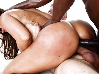 Tantalizing Pornography Diva Bridgette B Gives A Bj And Gets Dual Penetrated