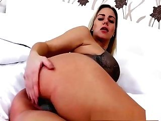 Preggie Nathaly Makes Herself Jizz With A Faux-cock