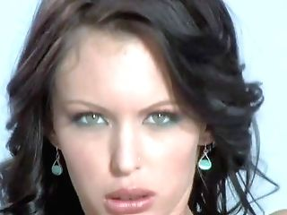 Charming Revved On Dark-haired Jenna Presley With Beautiful Blue Eyes