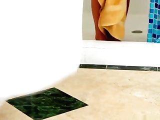 Slender Dark Haired Cougar Anal Invasion Step Into My Bathroom