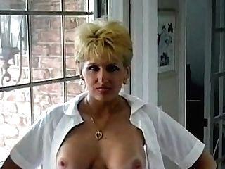 Cougar Skoolgirl Licks Spunk