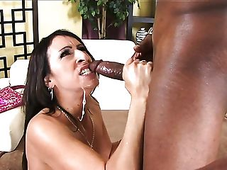 Big-chested Black-haired Cougar With Giant Booty Raven Black Loves Working On Fat Big Black Cock