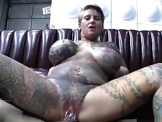 Tattoed And Pierced Cougar Fucking