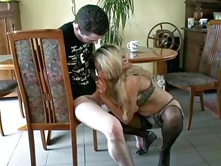 German Big Natural Tits Matures Entice Youthfull Boy To Fuck