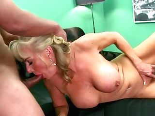 Matures Blonde Bitch Fucked By A Stud