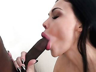 Ideal Big Boobed Aletta Ocean Strokes And Blows Indeed Lengthy Big Black Cock