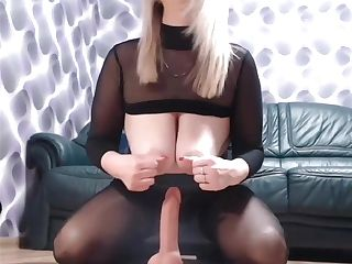 Big Natural Tits Blonde In Nylons Put Dick Inwards Her Boots