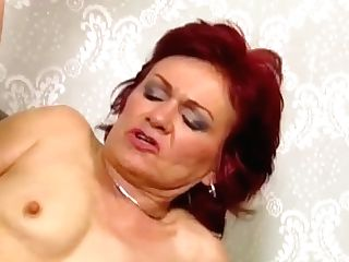 Ginger-haired Granny Takes Ass Fucking Pounding