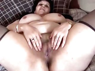 Buxom Hairy Matures Bbw Spreads And Shows Off Hairy Cunt