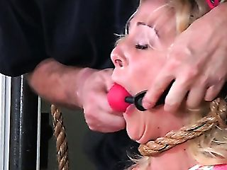 Skanky Hoe In Sexy Sundress With A Ball Gag Is Worth A Good Penalty