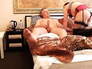 Russian Arab Gross Cougar Whore In Boots & Basque Fucks