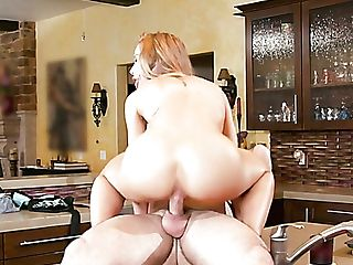 Sinful Buxom Blonde Milfie Housewife Nicole Aniston Rails Dick In The Kitchen
