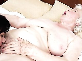 Matures Superslut With Ample Knockers Rails Dudes Pulsing Man Meat