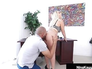 Big Butt Manager Nina Kayy Gets Fucked By Her Big Sausage Employee!