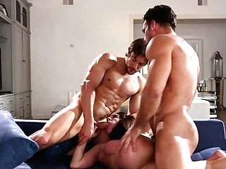 Naked Wifey Collective Inbetween Paramours In Strong Threesome