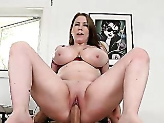 Orgy-crazy Assistant With Giant Orbs Desiree Rails Hard Dick Of Her Chief