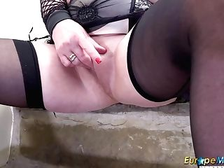 Europemature Large-jugged Auntie Trisha Solo Vag Groping