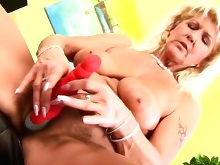 Older Berna Squirts While Masturbating