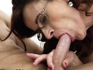 Glasses Gilf Loves Taking Youthful Studs Woo