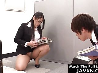 Very Hot Japanese Housewife Office Bitch - Big Masculine Stick