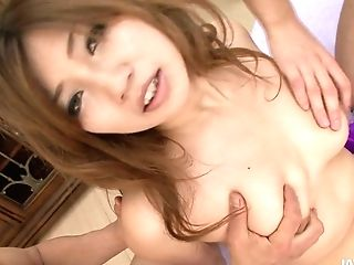 Bosomy Japanese Fairy Misaki Aiba Gets Her Snatch Finger Fucked Until She Squirts