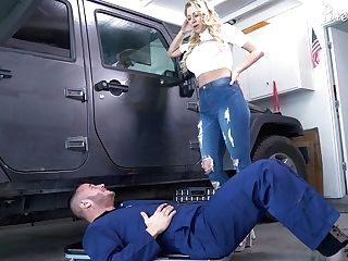 Whore Wifey Katie Morgan Bangs Super-sexy Youthfull Mechanic Danny Mountain