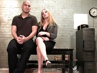 Mistress Aiden Starr Rails Sub's Dick