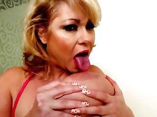 Buxom Bbw Cougar Samantha 38g Drills Her Cooch With Fake Penis