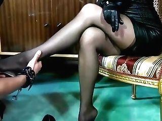 Black Leather Opera Gloved Mistress