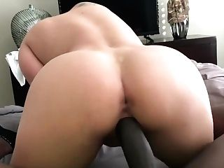 Sexy Blonde Mummy Fuck In Sofa With Big Black Cock