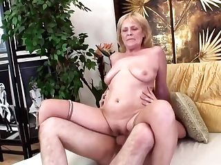 Horny, Czech Granny, Zdenka Is Sucking Dick To Make It Hard Enough For Her Cooter