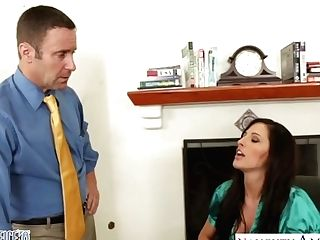 Bossy Bitch In Stockings And Underwear Kortney Kane Gets Laid At The Office
