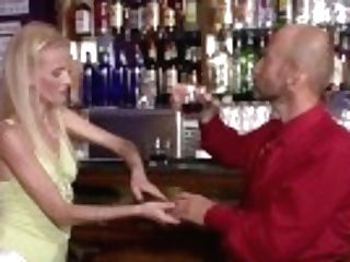"""barman Licks And Fucks His Youthful Blonde Wifey For Money"""