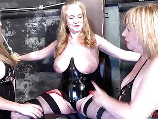 Gonzo Bondage & Discipline With Three Brit Moms In Leather